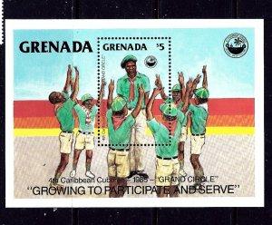 Grenada 1311 MNH 1985 Boy Scouts S/S
