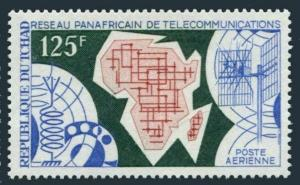 Chad C82,MNH.Michel 386. Pan-African telecommunications system,1971.Map.