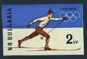 Bulgaria 1094 imperf,MNH.Michel 1153B. Olympics Squaw Valley-1960.Skier.