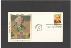 USA: #06 /**JOHN HANSON-MD CANCEL ** / SILK CACHET- FDI- Excellent Condition