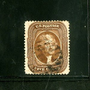 US Stamps # 30A XF Choice deep color used