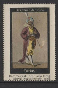 Germany- Inhabitants of Earth Series, Man in Turkish costume - NG