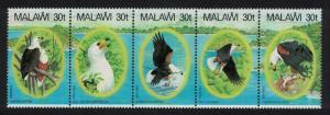 Malawi African Fish Eagle Strip of 5v SG#674-678