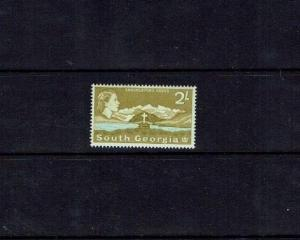 South Georgia: 1963, definitive series, 2/- Olive/Blue, Lightly mounted mint