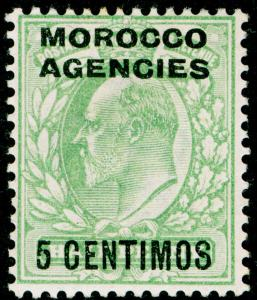 MOROCCO AGENCIES SG112, 5c on ½d pale yellowish-green, M MINT. Cat £14.