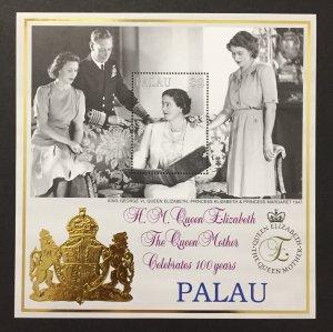 Palau 1999 #523 S/S, Queen Elizabeth II, MNH.