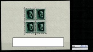 Deutschland Reich TR02 DR Mi Block 7 1941 Reich Postfrisch ** MNH