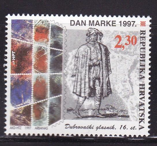 Croatia 1997 Stamp Day 16th Century Courier from Dubrovnik VF/NH