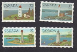 Canada MNH 1032-5 Lighthouses 1984