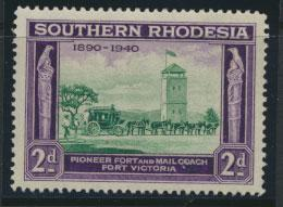Southern  Rhodesia  SG 56 Mint Unhinged