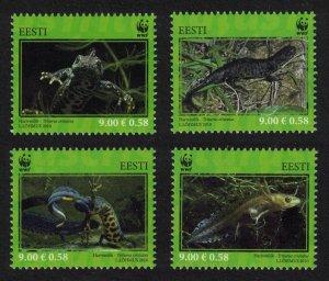 Estonia WWF Newt Protected Species 4v SG#628-31