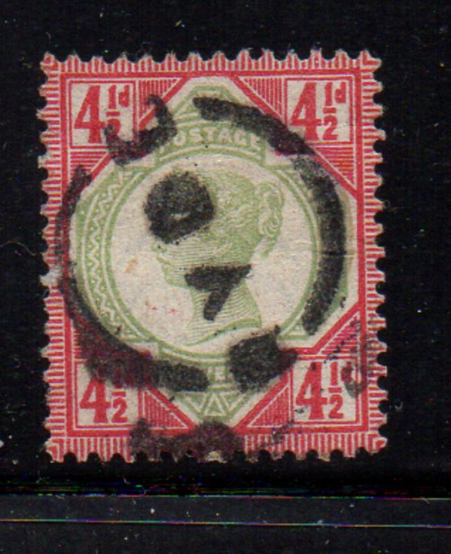 Great Britain Sc 117 1887 4 1/2d   Victoria stamp used