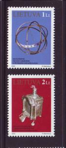 Lithuania Sc 666-7 2000 Clock Museum stamp set mint NH...
