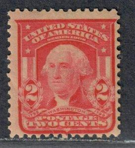 $US Sc#319fi M/NH/F Carmine shade, natural gum wrinkle, Cv. $150