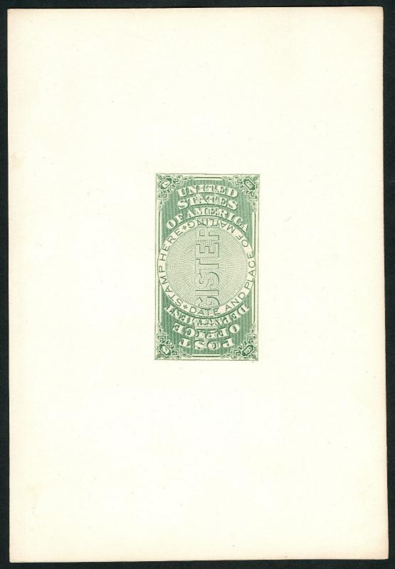 #OXF1P1 LARGE DIE PROOF ON INDIA PAPER -- SUPERB -- WLM4076