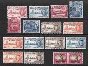 Doyle's_Stamps: NH Assortment of 1946 British Empire Peace/Victory Issues