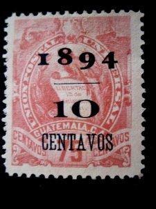 GUATEMALA - SCOTT# 54 - MH - CAT VAL $550.00
