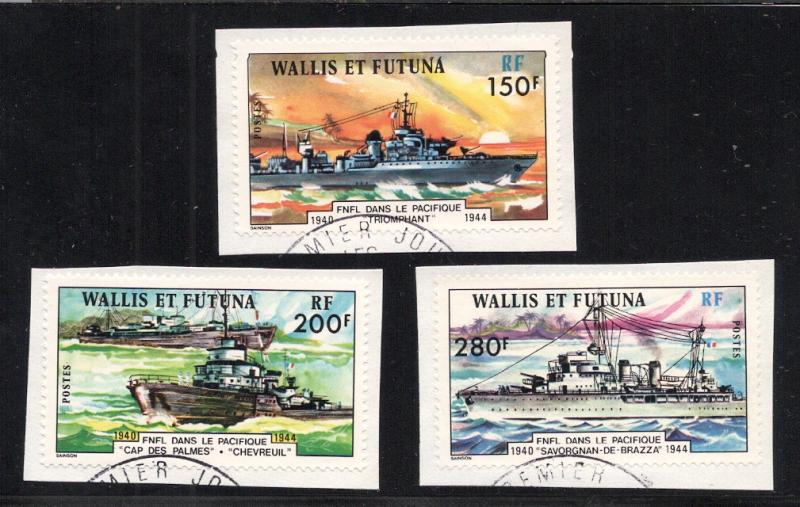 Wallis & Futuna Islands #'s 207-209 - Used
