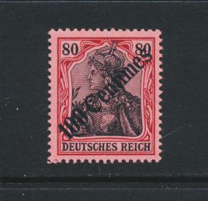 GERMAN OFFICES IN TURKEY 1908, 10c ON 80pf VF MNH(SIGNED) Sc#59 CAT$140