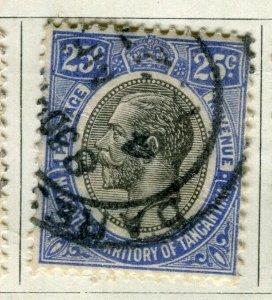 TANGANYIKA; 1927 early GV Head issue fine used 25c. value