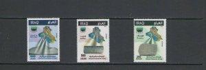 IRAQ: Sc. 2033-35 /**VARIOUS MINERALS** / Set of 3 - MNH