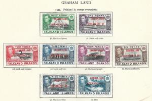 GRAHAM LAND 1944 Optd  GRAHAM LAND DEPENDENCY  OF   MMint.