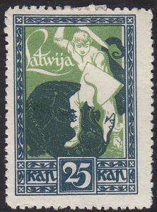 Latvia 65 Slaying the Dragon 1919
