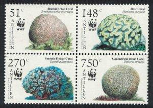 Neth. Antilles WWF Corals 4v SG#1705-1708 MI#1401-1404 SC#1071 a-d CV£20+