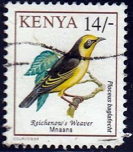 Kenya #606 Reichenow's Weaver Bird, 1993. Used