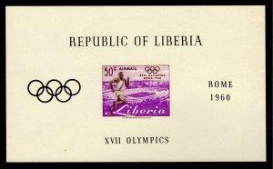 Liberia - Mint Souvenir Sheet Scott #C127 (Olympics: Runner, Stadium)