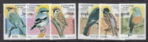 CAMBODIA ^^^^^sc# 1598-1603   MNH SET ( BIRDS)  $$$@ dcc320cambo