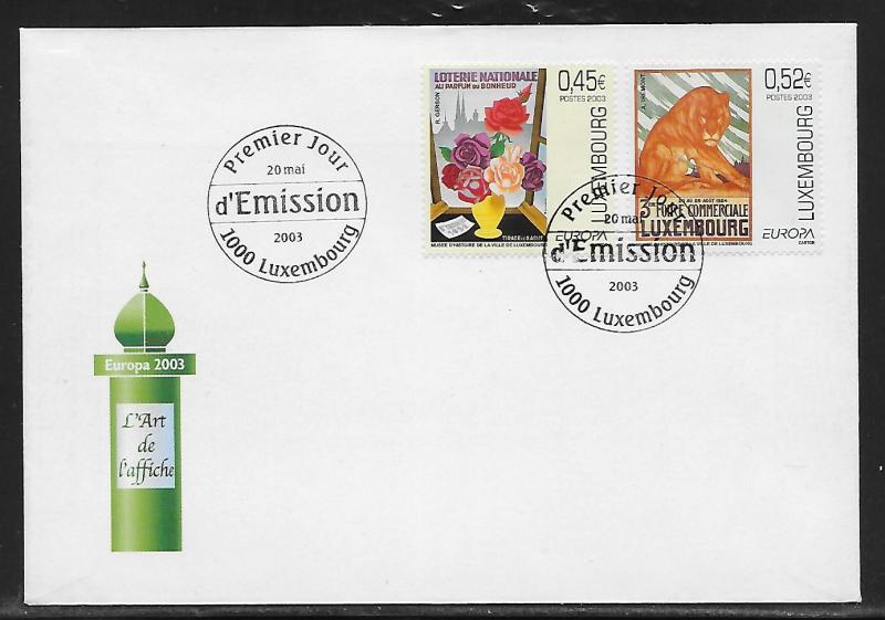 Luxembourg 1111-12 Europa Poster Art Unaddressed FDC