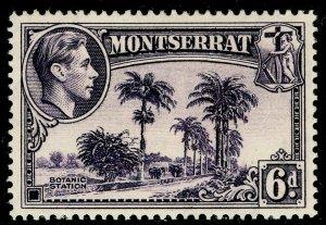MONTSERRAT SG107a 6d violet, M MINT. PERF 14