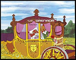 Grenada 1136, MNH, Disney Christmas Robin Hood souvenir sheet