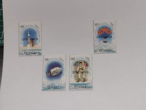O) 1994 TUVALU, SPECIMEN, SPACE, NEIL ARMSTRONG, FIRST MANNED MOON LANDIN, SA...