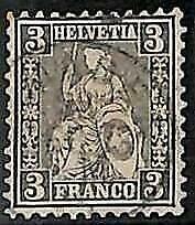 95017a - SWITZERLAND - STAMP -    Yvert #  34 -  fine  USED
