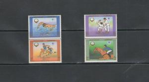 KUWAIT :Sc. 963a,65a /**1984-SUMMER OLYMPICS **/ Set of 4 / MNH.