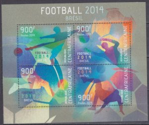 2014 Central African Republic 4610-13KL 2014 FIFA World Cup Brazil 16,00 €