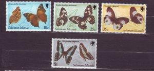 J23746 JLstamps 1981 solomon islands set mlh #461-4 butterflies