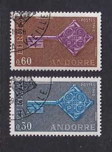 Andorra French    #182-182   cancelled  1968  Europa  keys