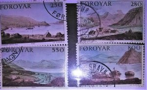 collectibles postage stamps of the faroes Islands1985 Scenic Landscape Painting