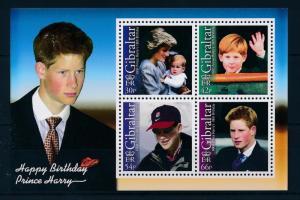 [48723] Gibraltar 2002 Prins Harry 18th Birthday Princess Diana MNH Sheet