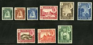 ADEN KATHIRI STATE1-10 MH (MISSING HIGH VALUE) SCV $28.00 BIN $11.00 PLACES