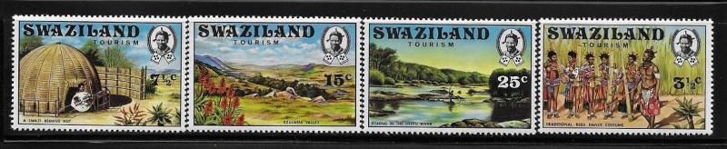 Swaziland 1972 Tourist publicity Traditional Dancers beehive hut fishing MNH
