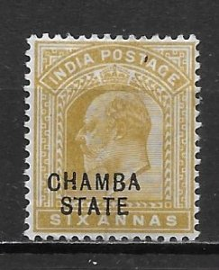 India Chamba 26 6a Edward VII single Unused Hinged