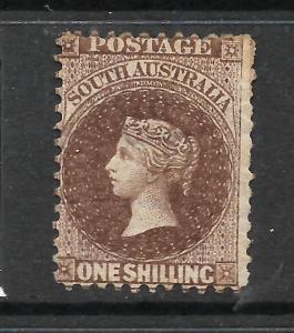 SOUTH AUSTRALIA 1868-79  1/-  LAKE BROWN      QV  MH    SG 80