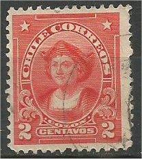 CHILE, 1912, used 2c, Columbus, Scott 113