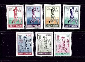 Paraguay 556-59 and C262-64 MNH 1960 Basketball
