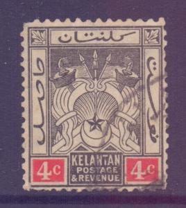 Malaya Kelantan Scott 19 - SG17, 1921 Script CA 4c  used