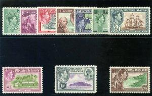 Pitcairn Islands 1940 KGVI set complete superb MNH. SG 1-8. Sc 1-8.